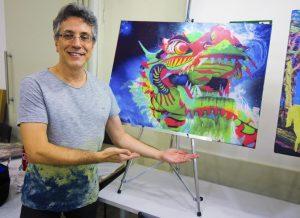 Henrique Vieira Filho e sua tela Ch'ien / O Criativo