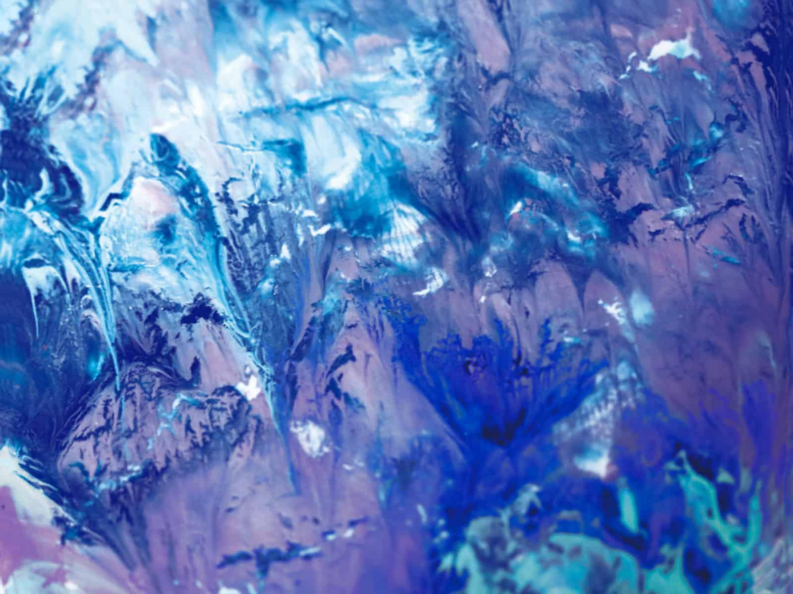 Tela: Blue Abstract – Artista: Luiza Vieira