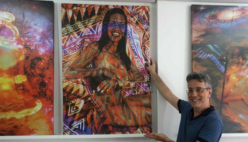 "Pintura ""African Gioconda"" do Artista Henrique Vieira Filho"